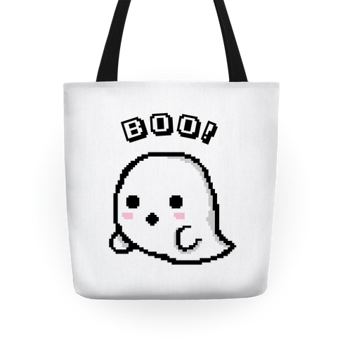 Pixel Ghost Tote