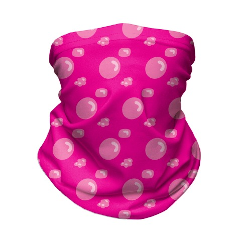 Bubblegum Babe Pattern Neck Gaiter