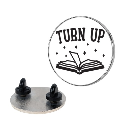 Turn Up Book pin