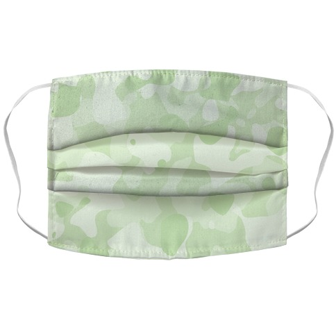 subtle green camo Face Mask