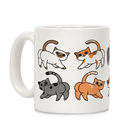 Cats With Buttcheeks Coffee Mug