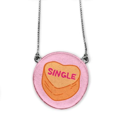 Single Conversation Heart Parody necklace
