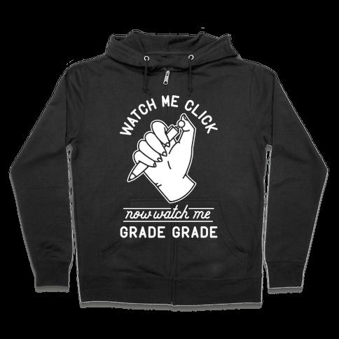 Watch Me Click Watch Me Grade Grade Wht Zip Hoodie