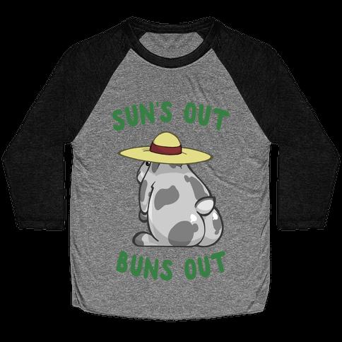 Sun's Out Buns Out Bunny Baseball Tee