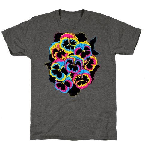 Pan-sy (Pansexual Pansies) Mens/Unisex T-Shirt