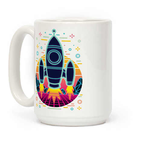 Synthwave Space Exploration Coffee Mug