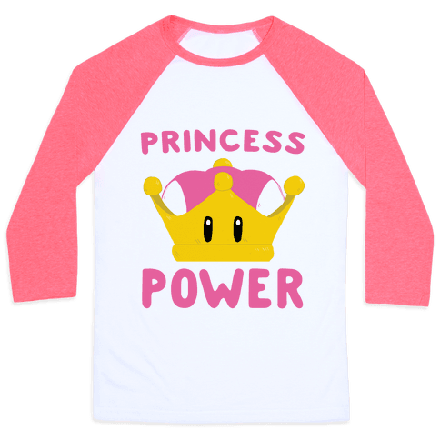 Princess Power Baseball Tee