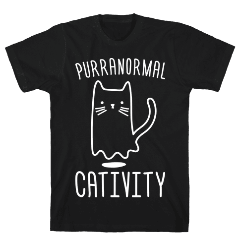 Purranormal Cativity (White) Mens T-Shirt