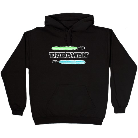 Padawan Dadawan Star Wars Parody Blue/Green Light Sabers Hooded Sweatshirt