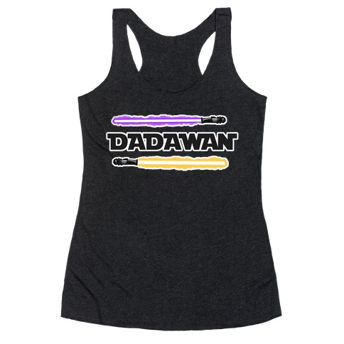 Padawan Dadawan Star Wars Parody Purple/Yellow Light Sabers Racerback Tank Top