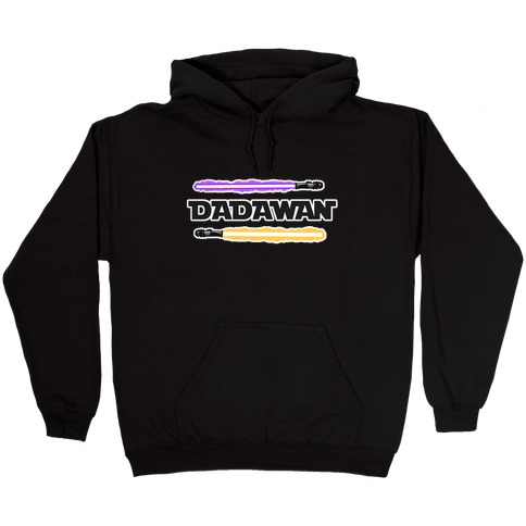 Padawan Dadawan Star Wars Parody Purple/Yellow Light Sabers Hooded Sweatshirt