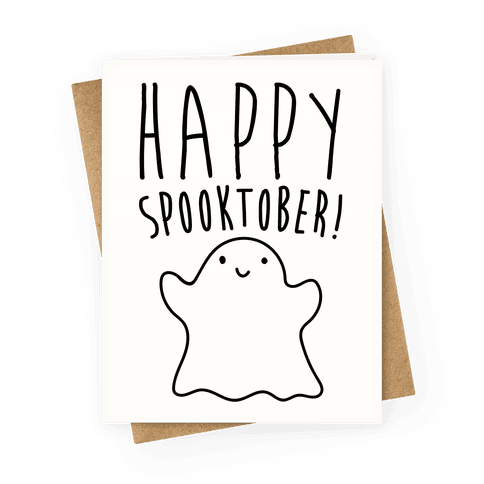 Happy Spooktober Halloween Parody Greeting Card