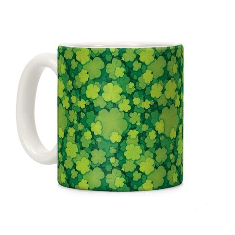 Clover Patch Pattern Coffee Mug