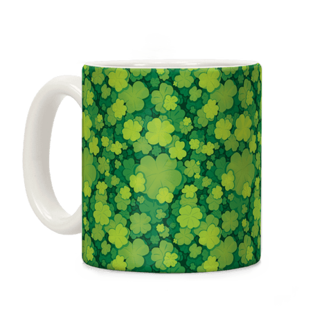Clover Patch Pattern Coffee Mug