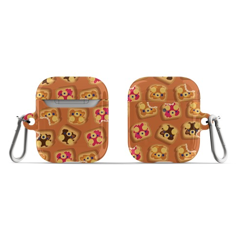 Bear Toast Pattern AirPod Case