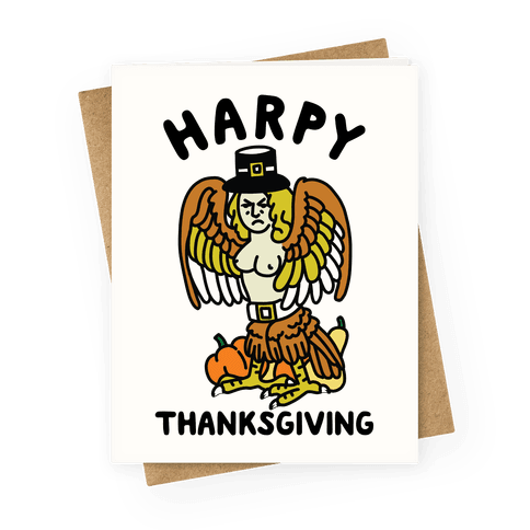 Harpy Thanksgiving Greeting Card
