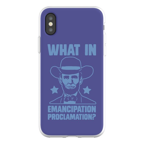 What in Emancipation Proclamation? Blue Phone Flexi-Case