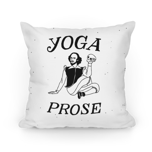 Yoga Prose  Pillow