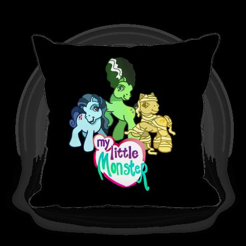 My Little Monster Pony Pillow