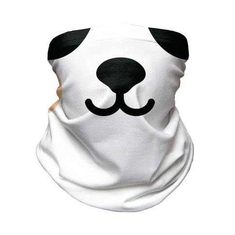 Panda Bear Mouth Neck Gaiter