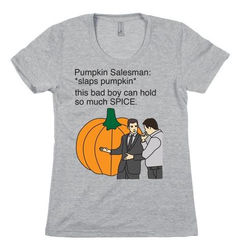 Pumpkin Salesman Womens T-Shirt