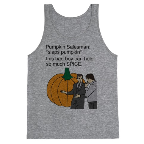 Pumpkin Salesman Tank Top