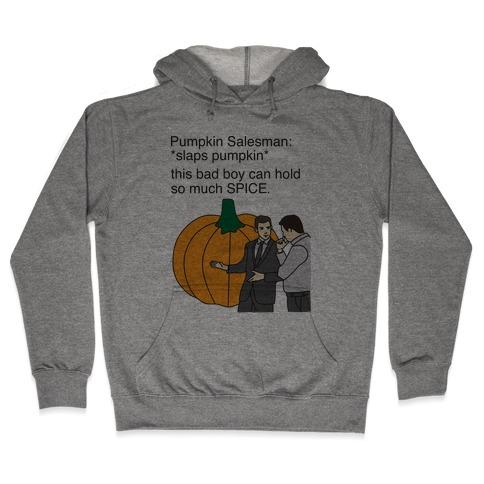 Pumpkin Salesman Hooded Sweatshirt
