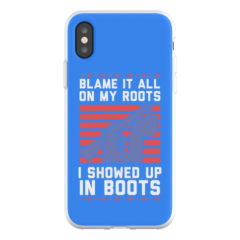 Blame It All On My Roots Military Phone Flexi-Case