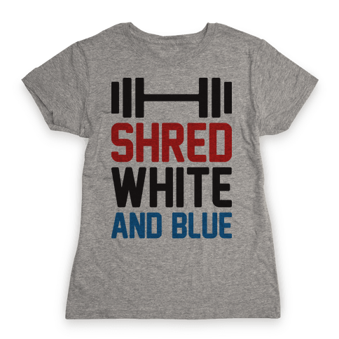Shred White And Blue Womens T-Shirt