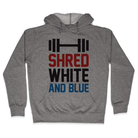 Shred White And Blue Hooded Sweatshirt