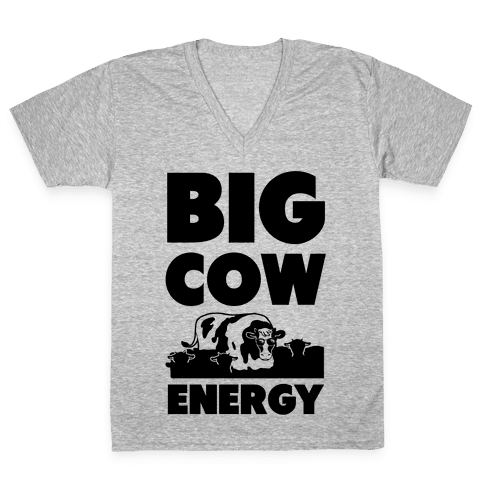 Big Cow Energy V-Neck Tee Shirt