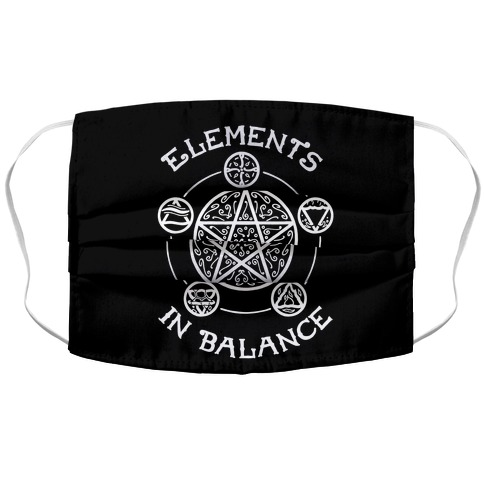 Witch's Elements In Balance Accordion Face Mask