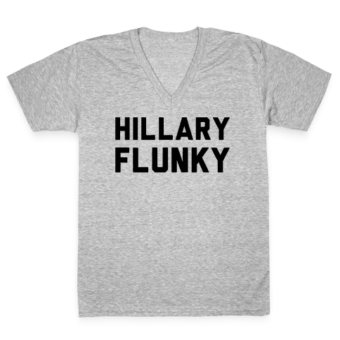 Hillary Flunky V-Neck Tee Shirt