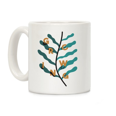 Growing Plant Frond Coffee Mug