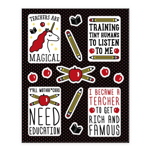 Teachers Are Magical Sticker and Decal Sheet