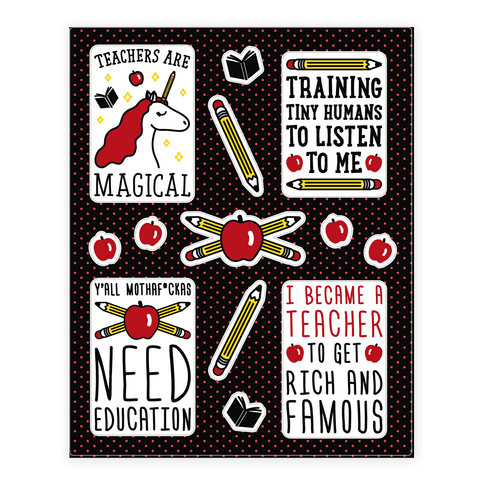 Teachers Are Magical Sticker/Decal Sheet