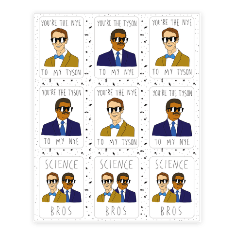 Science Bros Sticker/Decal Sheet
