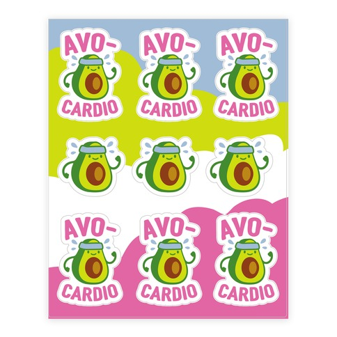 Avocardio Sticker and Decal Sheet