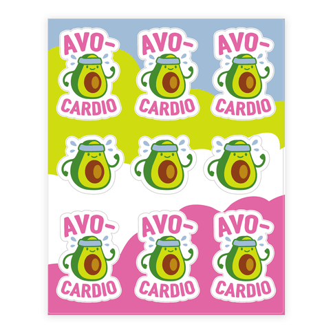 Avocardio Sticker/Decal Sheet
