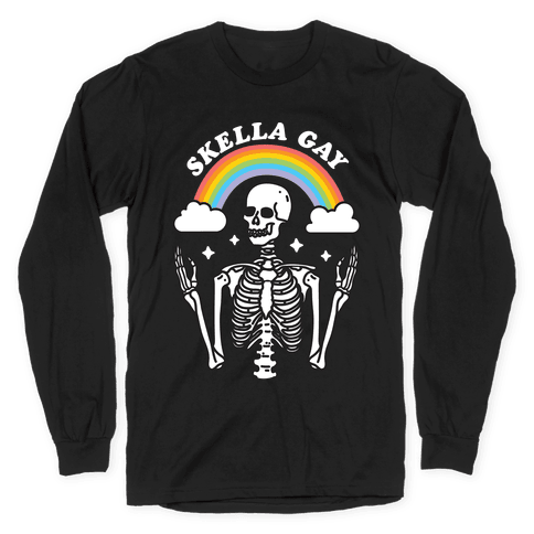 Skella Gay Skeleton Long Sleeve T-Shirt