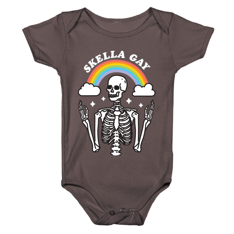 Skella Gay Skeleton Baby One-Piece