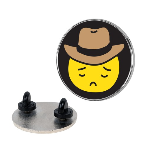Sad Cowboy Emoji Pin