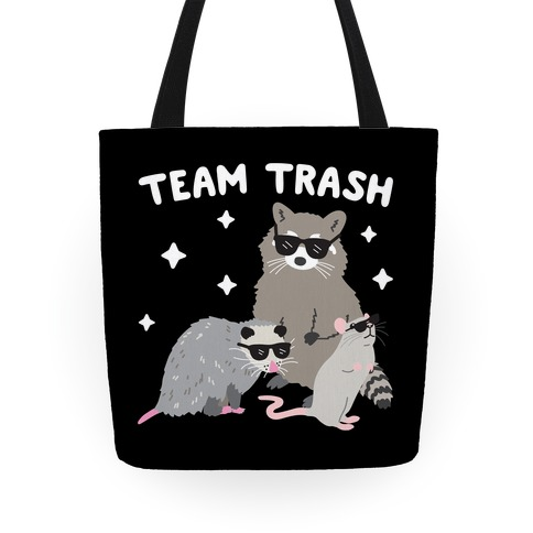 Team Trash Opossum Raccoon Rat Tote