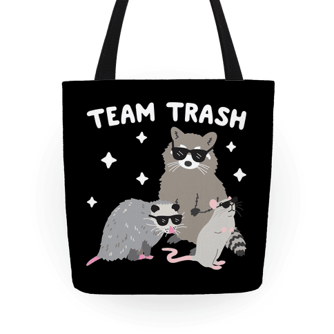 Team Trash Opossum Raccoon Rat Tote