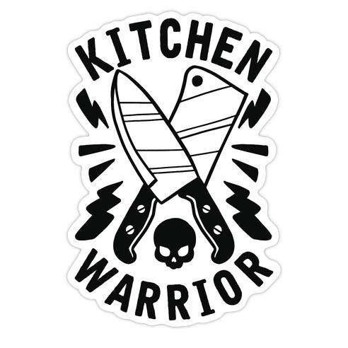 Kitchen Warrior Die Cut Sticker