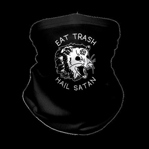 Eat Trash Hail Satan Possum Neck Gaiter