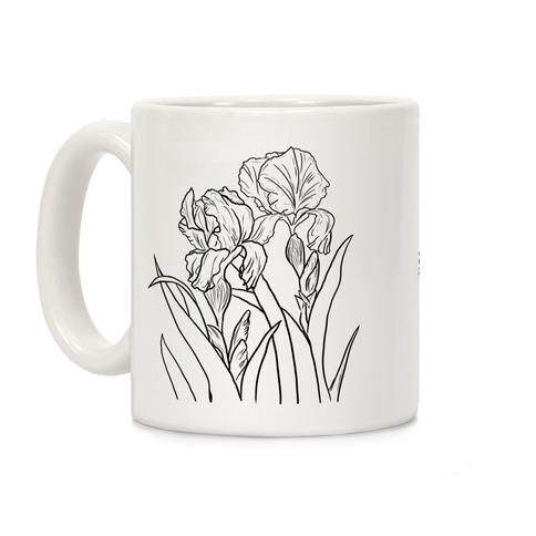 Iris Flowers Coffee Mug