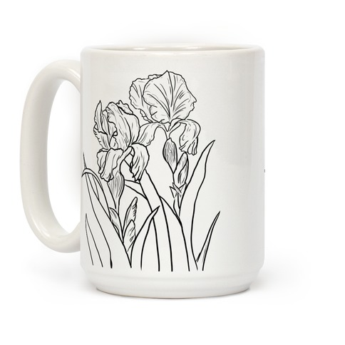 Iris Flowers Coffee Mug