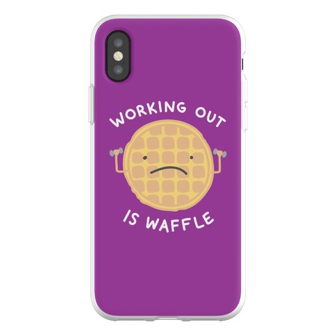 Working Out Is Waffle Phone Flexi-Case