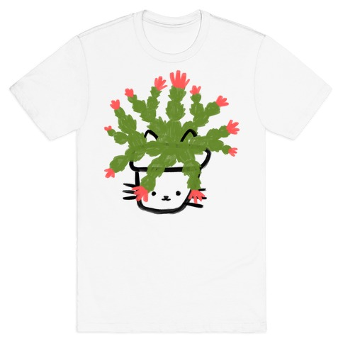 Christmas Cactus Cat T-Shirt